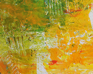 Abstract acrylic artist painting