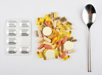 Food supplements or pills meal