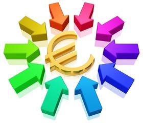 alle Wege führen zum Euro - begehrter Euro