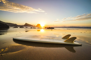 Surfboard Sunset