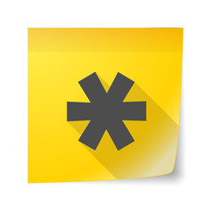 Sticky note icon with an asterisk