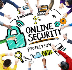 Online Security Protection Internet Safety Concept
