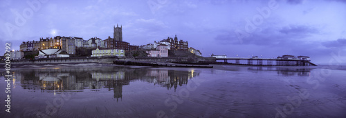 City on the water Cromer pano, United kingdom