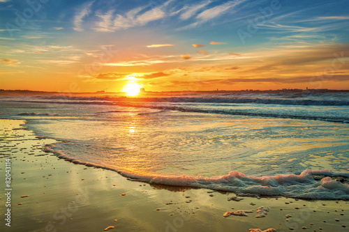 Foto op Canvas Strand Sunset