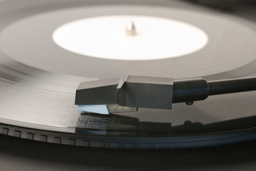Vinyl Record and Record Player Stylus