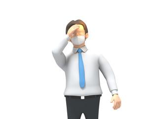 花粉症に悩む男性