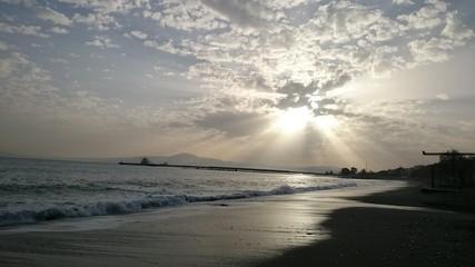 Sunset sky over the beach 2