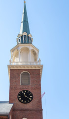 Old Brick Clock Tower in Boston