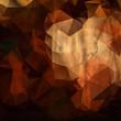 Brown polygonal vintage old background