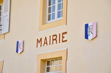 Façade de la Mairie de Sainte Croix en Jarez (Loire)