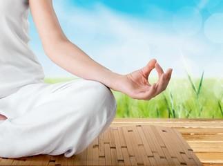 Yoga. Meditation detail