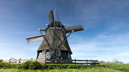 Time-lapse traditional Dutch windmill