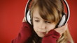 Little girl music red dance glance