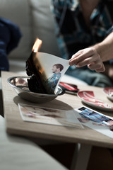 Burning photo after split up