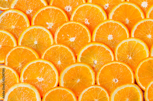 Foto op Canvas Vruchten Orange Slices Background