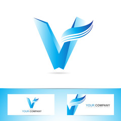 Letter V logo icon symbol