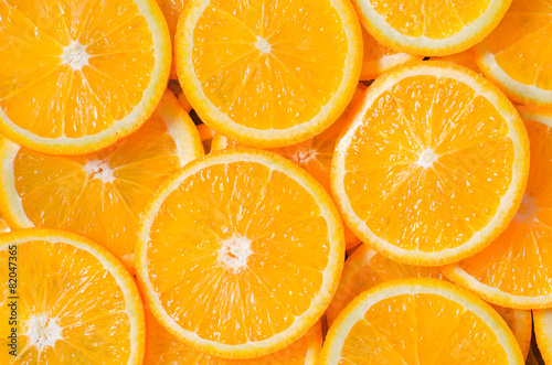 Papiers peints Fruit Orange Slices Background