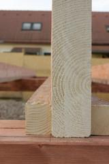 Begin construction wooden house