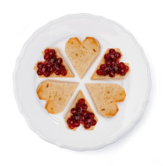 marmalade toast heart