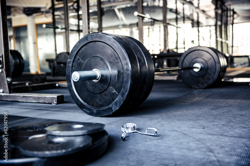 Closeup image of a fitness equipment