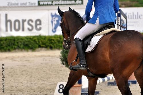 Staande foto Paardrijden Auf dem Pferd reiten
