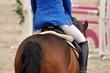Leinwandbild Motiv Auf dem Pferd reiten