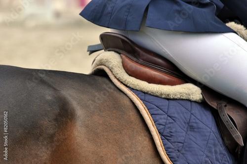 Foto op Plexiglas Paardrijden Auf dem Pferd reiten