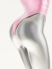 Female body metallic
