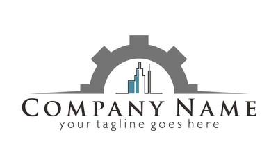 Town Gear Engine logo vector