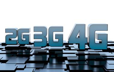 Mobile network speed: 2G, 3G, 4G