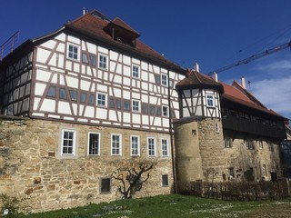 Mittelalterliches Gebäude an der Öhringer Stadtmauer