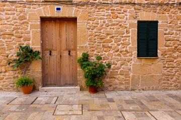 Alcudia Old Town in Majorca Mallorca Balearic