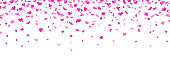 Herzkonfetti Banner - Pink