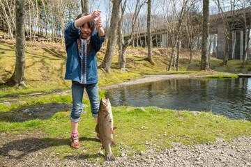 魚釣り・子供