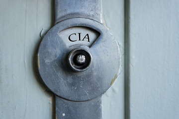CIA Schild Tür