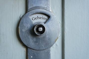 Geheim Schild Tür