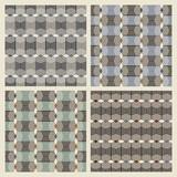 Set of four seamless geometric texture