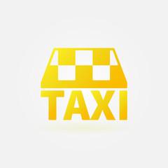 Taxi vector yellow icon or logo