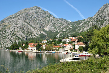 View of Orahovac town in summer day.