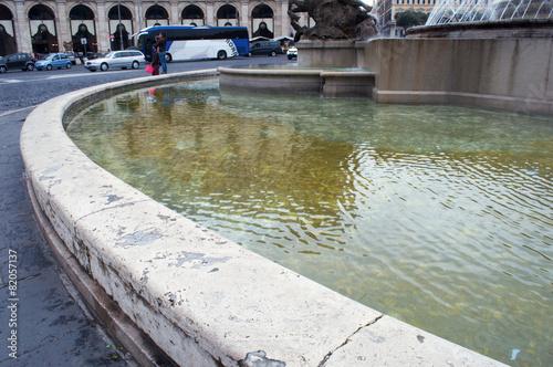 Leinwanddruck Bild Fontana delle Naiadi a Roma