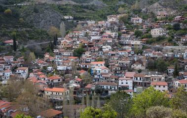 Mountain village of Palaichori at Troodos mountains, Cyprus
