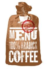 Typographic retro vector coffee menu.
