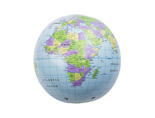 Inflatable globe isolated