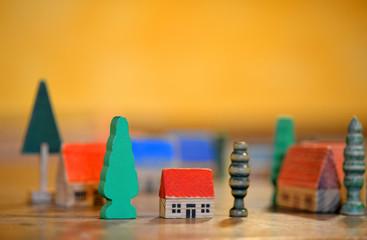 Holz Modell Dorf