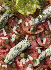 Fish and tomato salad