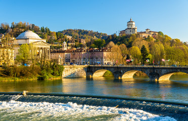 View of Turin over the Po River - Italy