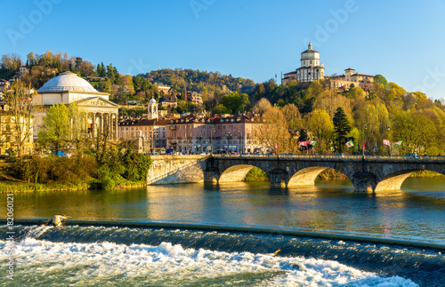 Poster View of Turin over the Po River - Italy
