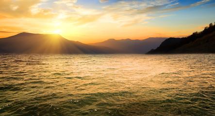 Sea and high mountains