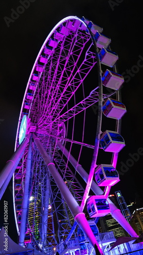 canvas print picture hong kong observation wheel