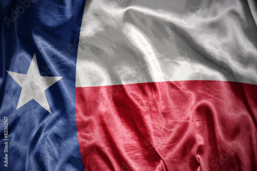 Leinwanddruck Bild shining texas state flag